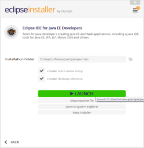 eclipse-installation-launch